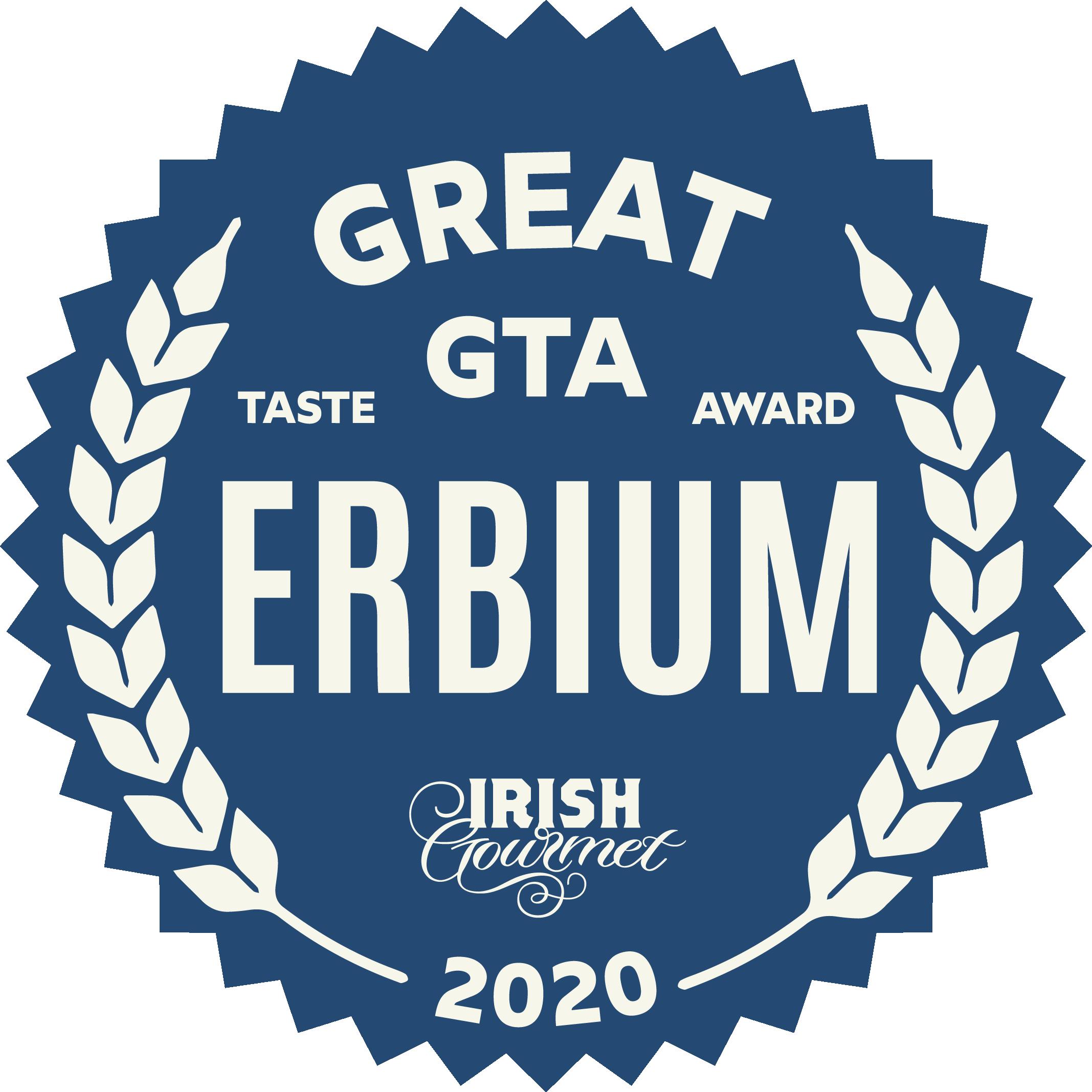 Erbium Great Taste Award