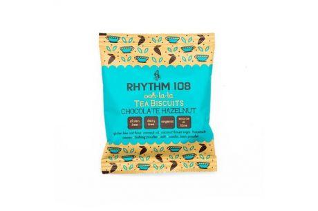 Rhythm 108 Ooh-la-la Tea Biscuits Double Choco Hazelnut 24g