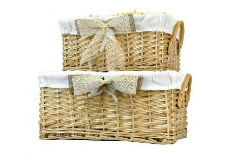 deep linen wicker basket