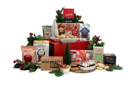 Snowy Christmas Morning Gift Basket