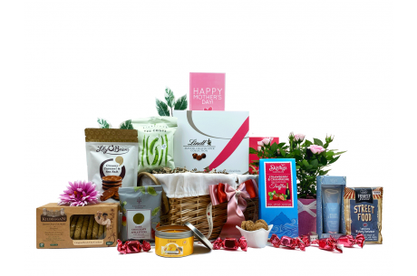 Mothers Day Flowers Scents and Treats Gift Basket