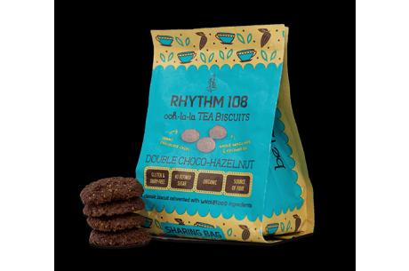 Rhythm 108 Ooh-la-la Tea Biscuits Double Choco Hazelnut Sharing Bag 135g