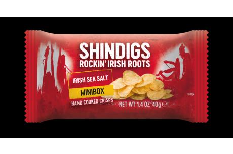Shindigs Minibox Handcooked Crisps Irish Sea Salt 40g