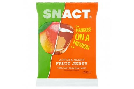Snact apple and mango fruit jerky